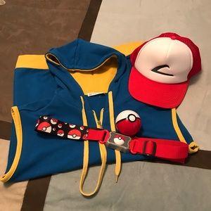 H2H Hoodie Pokémon Ash Ketchum Costume Mens Size S